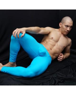 calza larga hombre marcadora de bulto y culo color turquesa