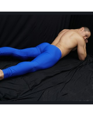 Long tights bulge pants is a butt enhancer blue color