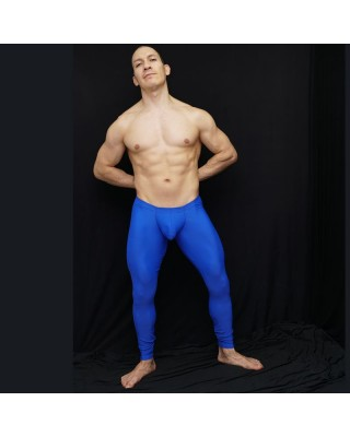 Long tights bulge pants is a butt enhancer blue color