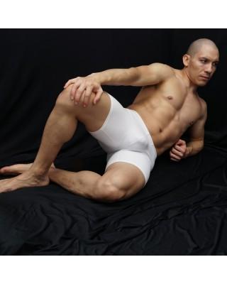 calza corta hombre entrenamiento futbol color blanco
