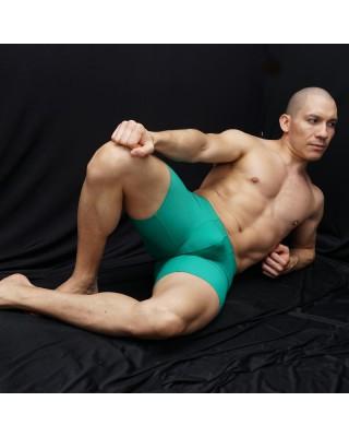 calza corta deportiva hombre compresion color verde