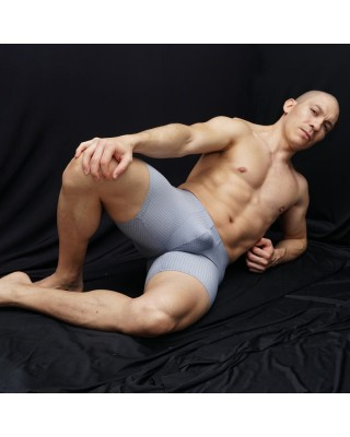 soccer men short low waist, grey tiny squares