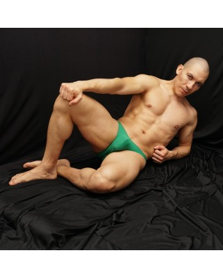 Green grass bikini for men, made in soft microfiber