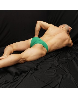 Green grass bikini for men, made in soft microfiber