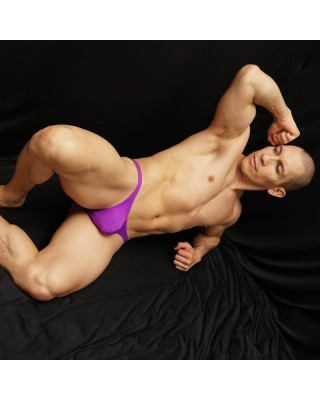 Micro tiny bulge bikini dark purple