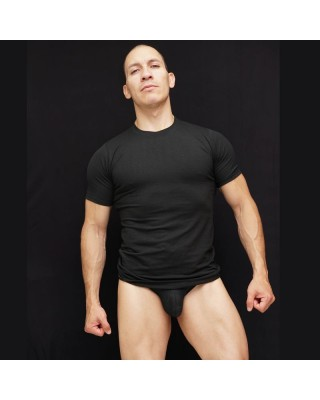 Spandex T-shirt black