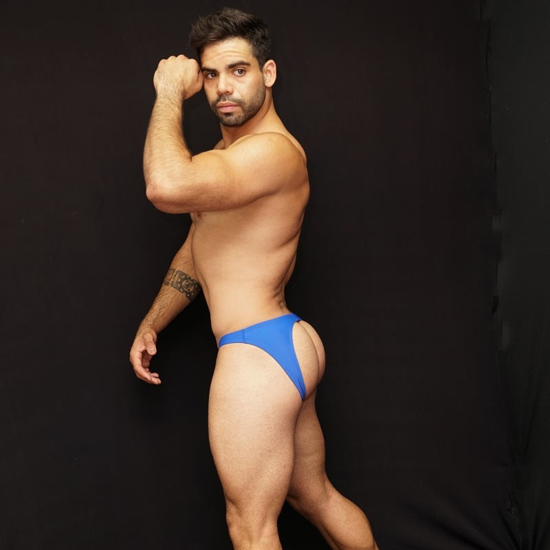 If you want to show your butt, please try these new bad boy thong bikini blue color