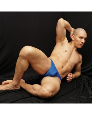 mesh light blue bikini for men