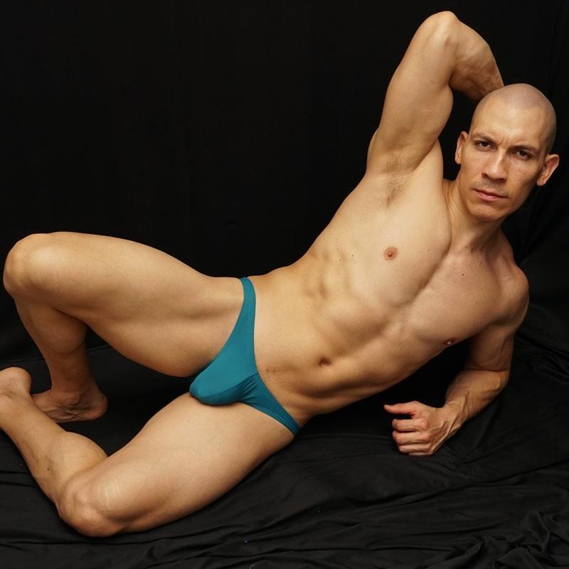 teal color for men bikini