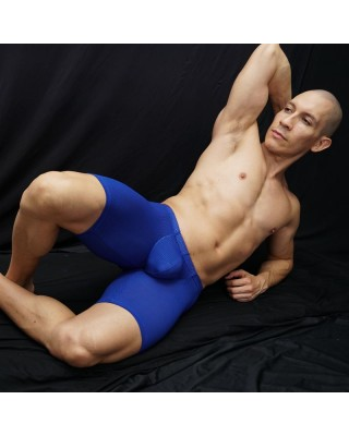 Bulge runner short blue mesh