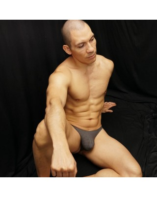 Mesh grey thong