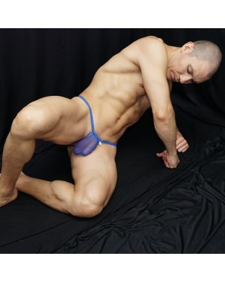 RIB G-string Thong (blue...