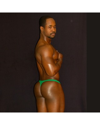 green color thong is so tradicional and can wear all day long with comfy, back view