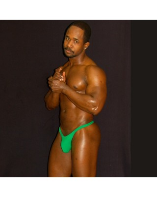 green color thong is so tradicional and can wear all day long with comfy, front view