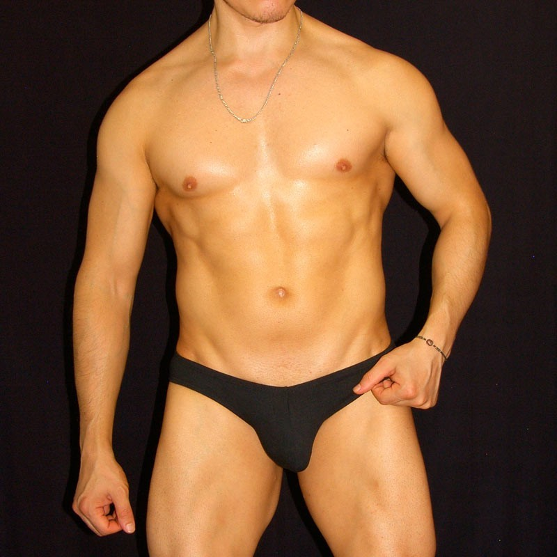 spandex for men bikini, wide sides. front view