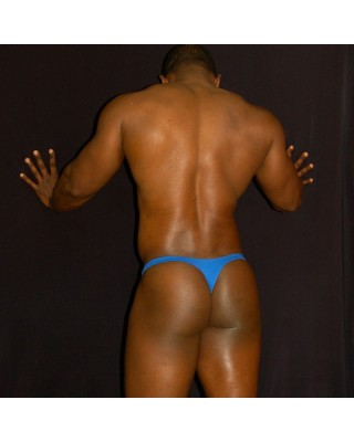 traditional thong for men made in cotton elastane lycra, back view