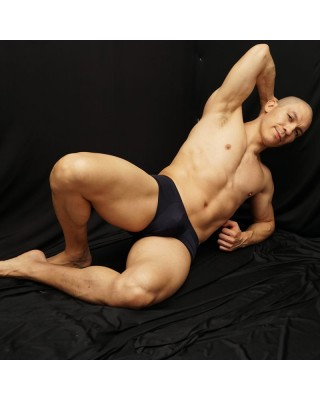 mini boxer for men, with plenty of room for your package, laid front view