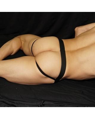 suspensorio o protector hombre, adecuado para deportes rudos o gimnasio. Vista de espalda