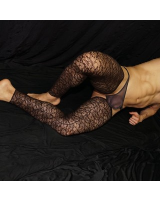 Sensual, hot, aroused . Soft Lace chap, Front view