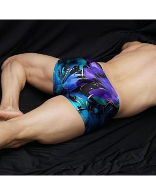Nice underwear men boxer gold lines, back view