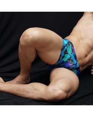 Nice underwear men boxer gold lines, front view