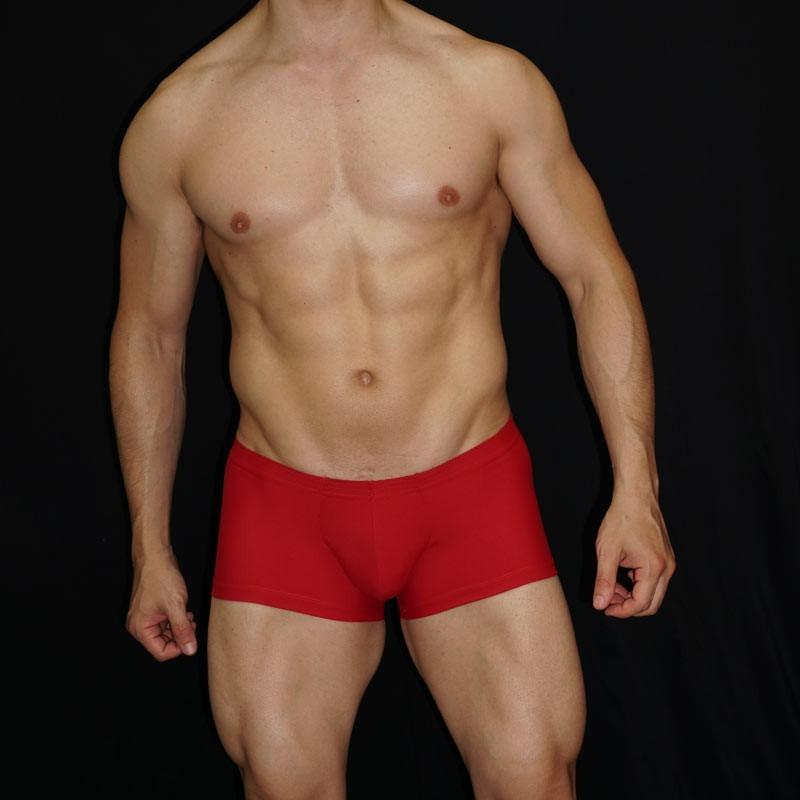 Soft enhancer bulge and butt in this men boxer