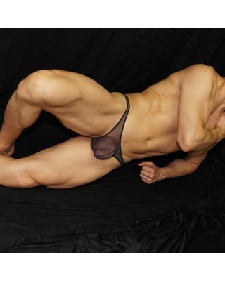 The amazing tulle converted into a wonderfully hot product wneh done in thong for men. front view