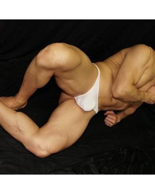 tanga lenceria hombre microfibra color blanco