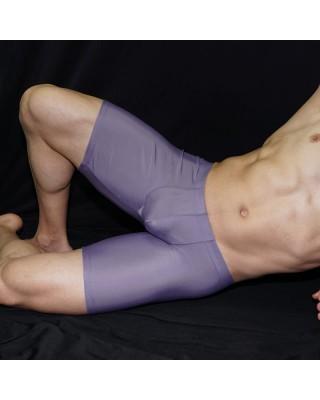 calza corta hombre color gris, vista de frente