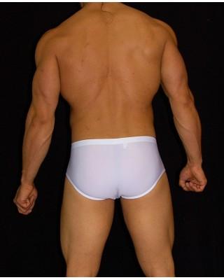 me´s swimwear squarecut white color