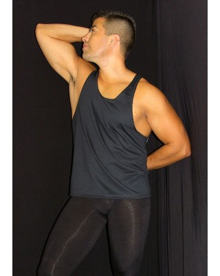 Musculosa relajada negra