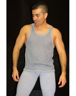 Muscle T-shirt ( Grey honeycomb )