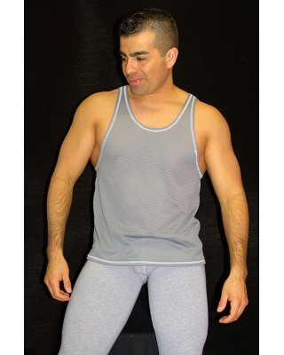 Musculosa panal gris