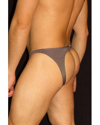 men backless bikini brown