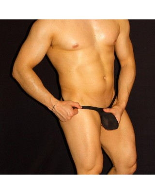 Men's thong Bulge Pouch G-String black color