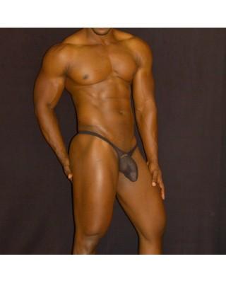 tanga bulge hombre transparencia negra