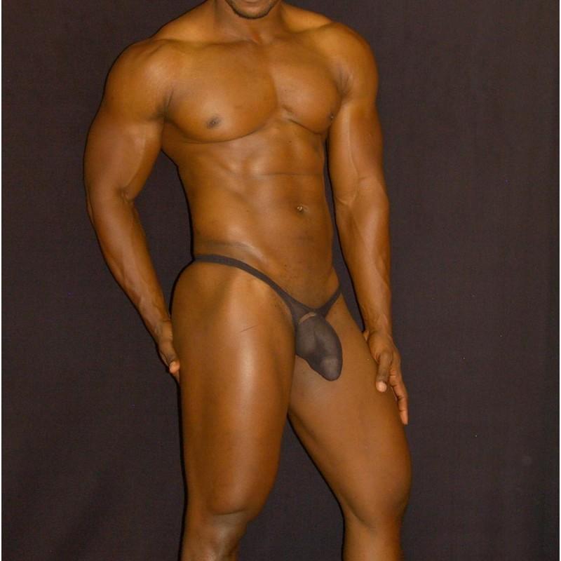 Bulge thong transparencia negra
