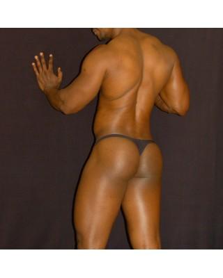 Men's thong Bulge Pouch G-String black color