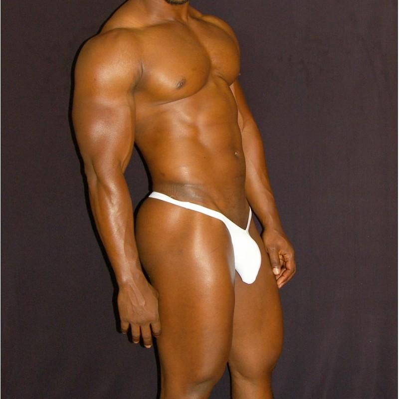 men bulge thong pouch white