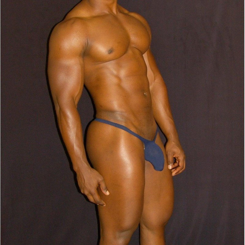 men bulge thong navy