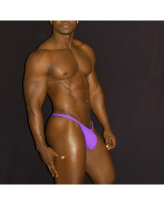 mens purple thong