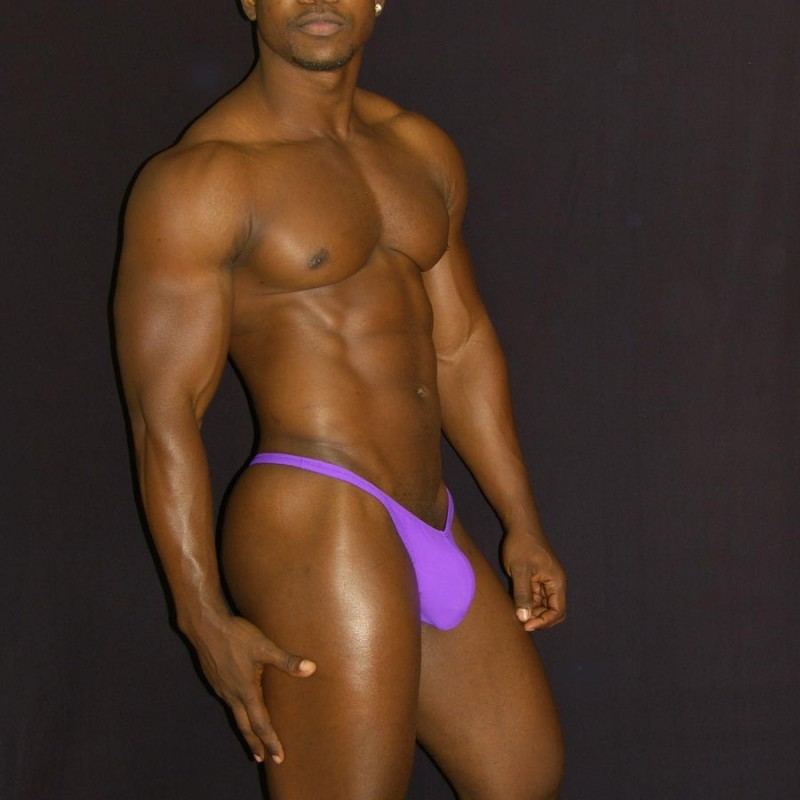 mens purple thong