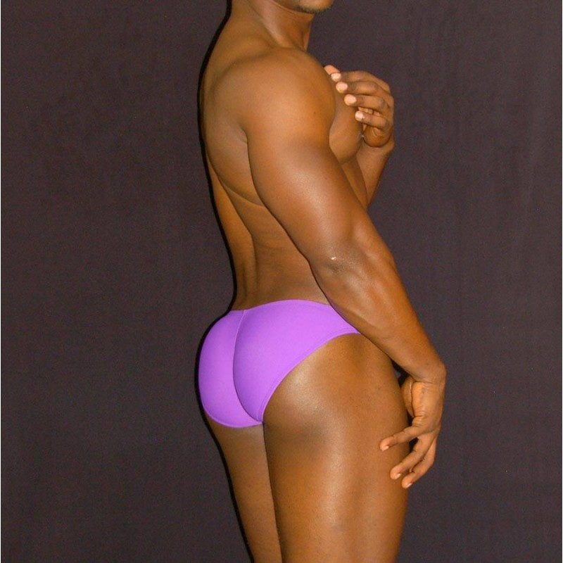 men bikini buttock enhancer purple