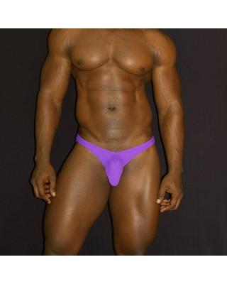 full buttock coverage men lingerie bikini purple