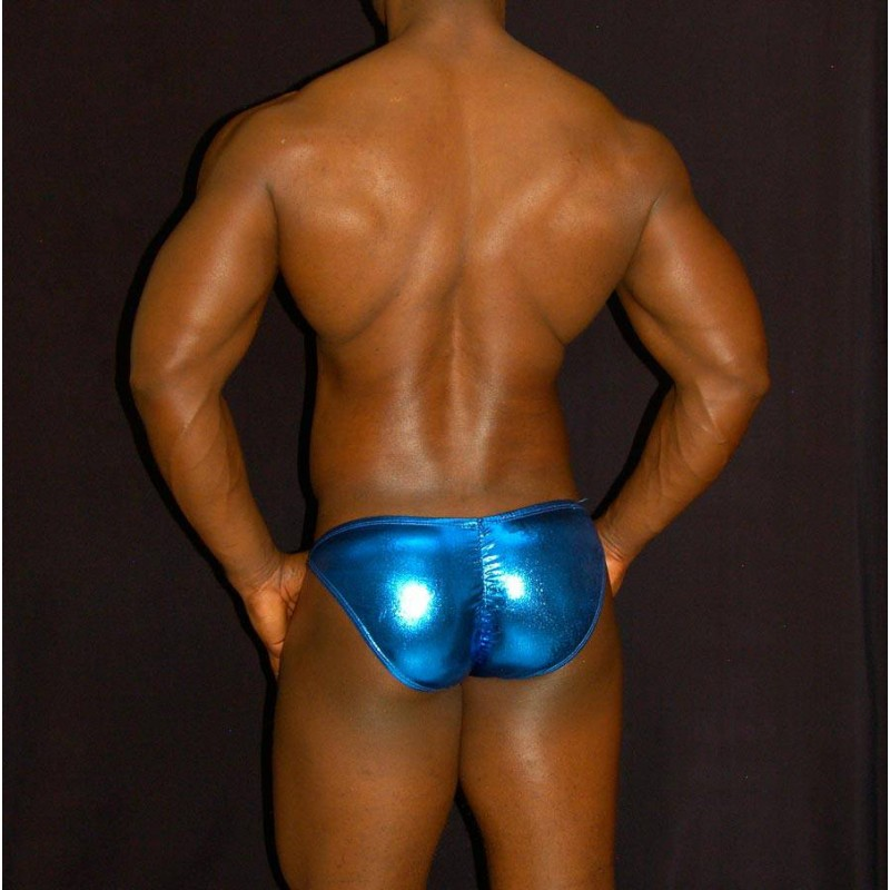 bikini buttock bulge enhancer blue latex