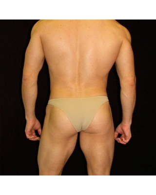 men tiny bikini beige or nude color