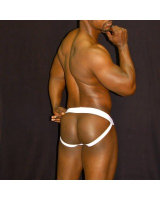 mens Jocks-strap, stripe viscose front