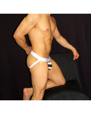 mens Jocks-strap, stripe viscose elastane
