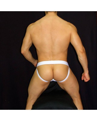 mens Jocks-strap, stripe viscose elastane