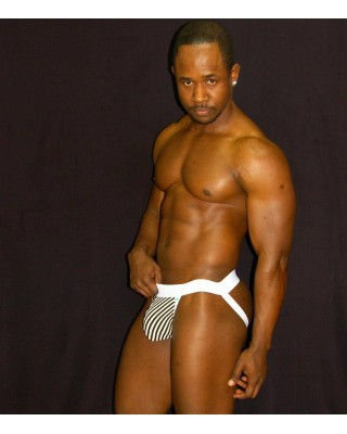mens jockstraps viscose elastane black and white stripes